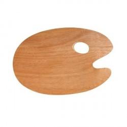 Palette ovale en bois 30x40cm