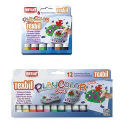 Sticks gouache solide Playcolor One Textile, étui couleurs assorties