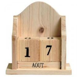 Calendrier perpétuel en bois 140x125x65mm