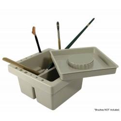 Récipient lave-pinceaux en plastique
