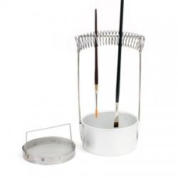 Lave-pinceaux métal - ø10x4.5cm