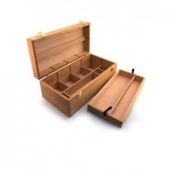 Coffret de rangement en bois Smart - 40x20x15cm