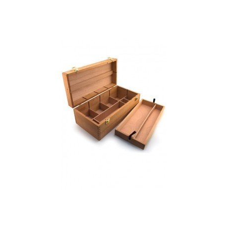 Coffret de rangement Smart, fourre-tout en bois - 40x20x15cm