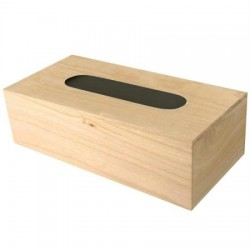 Boîte à mouchoirs en bois 250x135x90mm