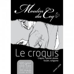 """Bloc de croquis """"Le Croquis"""" 120 g/m², 100 fls collées petit côté"""