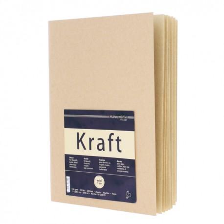 Cahier de croquis Kraft 120g/m², 20 fls reliées