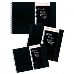 "Livres de croquis ""Black Book"" 250g/m², 30 fls spiralées"