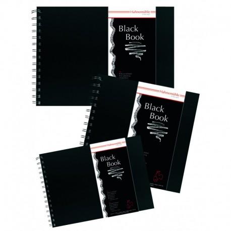 """Livre de croquis """"Black Book"""" 250g/m², 30 fls noires spiralées petit côté"""