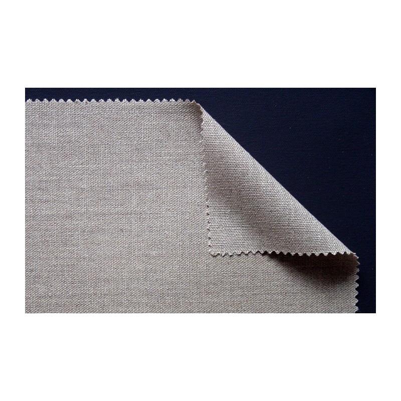 rouelau toile de lin transparent grain moyen. Black Bedroom Furniture Sets. Home Design Ideas