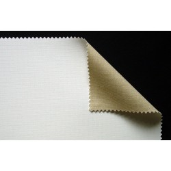 Toile mixte polyester et coton enduite à grain moyen 398g/m², en rouleau