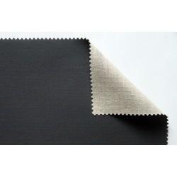 Toile enduite en lin noir à grain moyen 430g/m², en rouleau