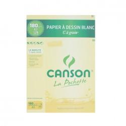 Pochette papier dessin C à Grain 180g/m² x12 fls