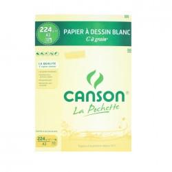 Pochette papier dessin C à Grain 224g/m² x12 fls