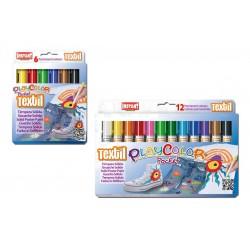 Sticks gouache solide Playcolor Pocket Textile, étui couleurs assorties