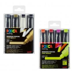 Set de 4 marqueurs Posca PC8K assortis