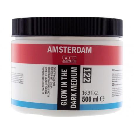 Gel médium phosphorescent Amsterdam 122, pôt 500ml