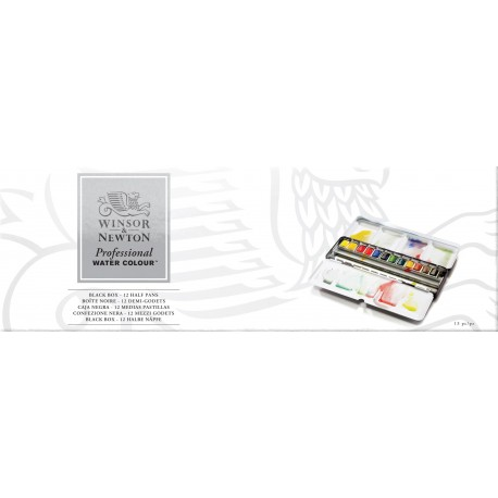 "Boîte métal ""Black Box"" Winsor & Newton x12 demi-godets"