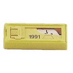 Lames cutter Stanley 1991 avec trous, étui x10 pcs