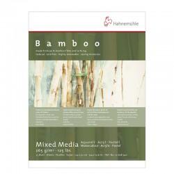 Bloc multi-techniques Bambou 265g/m², 25 fls collées petit côté