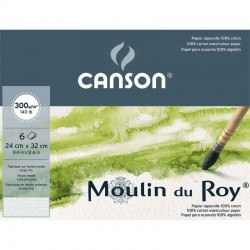 Pochette Beaux-Arts aquarelle Moulin du Roy 300g/m² x6 fls grain fin