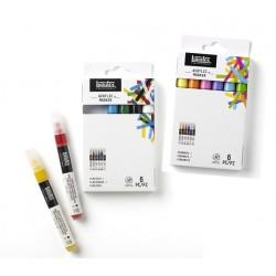 Set 6 marqueurs peinture acrylique Liquitex, pointe fine