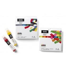 Set 6 marqueurs peinture acrylique Liquitex, pointe large