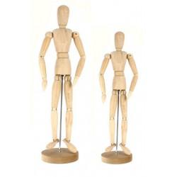 Mannequin articulé en bois - Femme