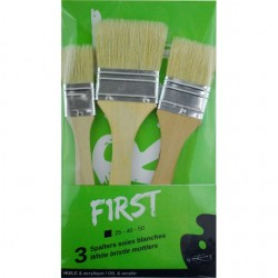 Set de 3 splaters First en soies blanches