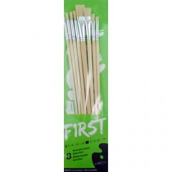 Set de 8 brosses First en soies blanches