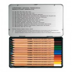 Boîte métal crayons aquarellables Rembrandt