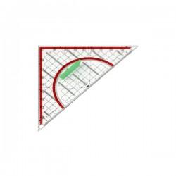 Equerre-rapporteur 180° - Hypoténuse 24cm