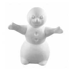Bonhomme de neige en polystyrène 24cm