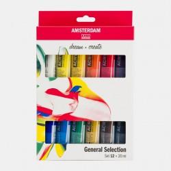 Sets peinture acrylique Amsterdam x20ml