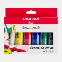 Sets peinture acrylique Amsterdam, tubes 20ml