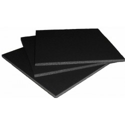 Carton mousse noir 5mm, plaque 100x140cm