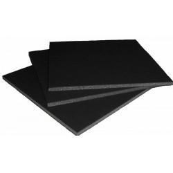 Carton mousse noir 5mm, plaque 50x70cm