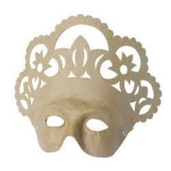 Masque Reine en papier maché - 10x26.5x21.5cm