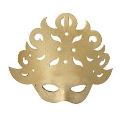 Masque Baroque en papier maché - 8x25x21cm
