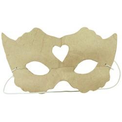 Masque enfant Princesse en papier maché - 3x14.5x8.5cm