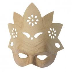 Masque Fleur en papier maché - 9x23x22cm