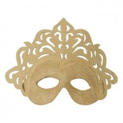 Masque Princesse en papier maché - 9x23x22cm