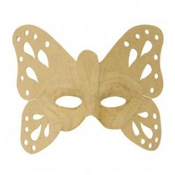 Masque Papillon en papier maché - 9x23x22cm