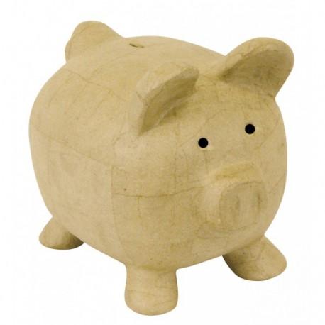 Tirelire Cochon en papier maché - 260x195x225mm