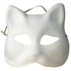 Masque de Venise Chat en carton blanc - 190x180x70m