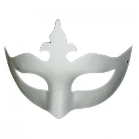 Masque loup Couronne en plâtre - 210x135x60mm - Set x2 pcs
