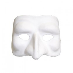 Masque haut visage en plâtre - 180x150x100mm