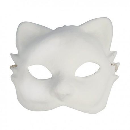 Masque Chat en plâtre - 200x200x80mm