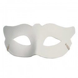 Masque de Venise loup en plâtre - 190x80x60mm