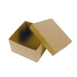 Mini-boite carrée en papier maché - 45x45x30mm