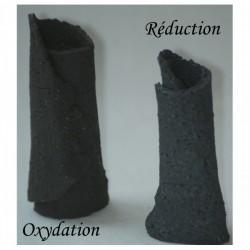 Terre à grès noire African Stone chamottée 0-1mm, pain 12.5kg